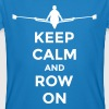 keep calm and row on rudern Verein rowing Boot - T-shirt bio Homme
