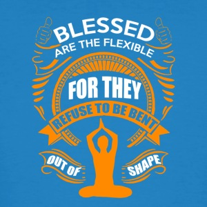 Blessed are the flexible - Männer Bio-T-Shirt