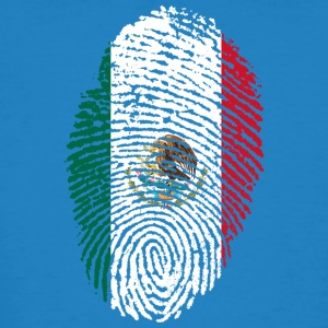 Fingerprint - Mexico - Mannen Bio-T-shirt