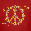 Blumen, Liebe  'n Frieden / flower love 'n peace (3c) - Men's Organic T-shirt