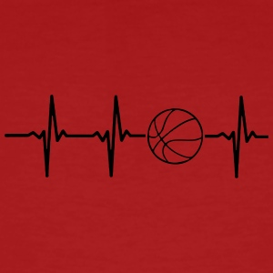 My heart beats for basketball - Men's Organic T-shirt