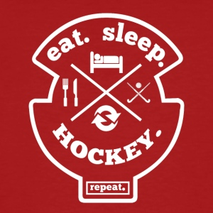 Eet Slaap Hockey Herhaal Hobby Sports T-shirt - Mannen Bio-T-shirt