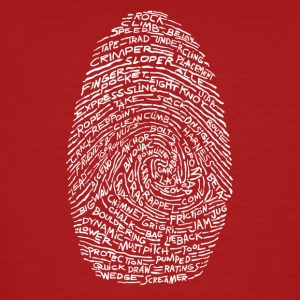 Fingerprint-white - Ekologisk T-shirt herr