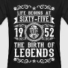 1952 - 65 years - Legends - 2017 - T-shirt ecologica da uomo