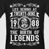 1988 - 29 years - Legends - 2017 - Mannen Bio-T-shirt