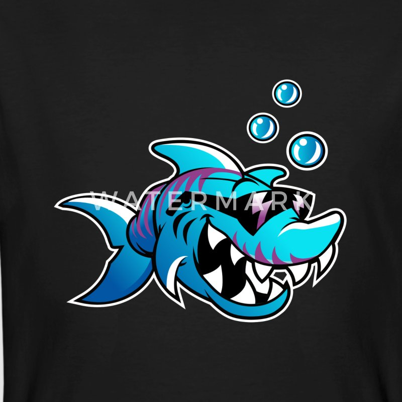 badass shark - Men's Organic T-shirt
