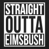 Straight Outta Eimsbush Rap Hip Hop Statement Hood - Männer Bio-T-Shirt