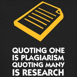 Plagiarism And Research - Men's Organic T-shirt
