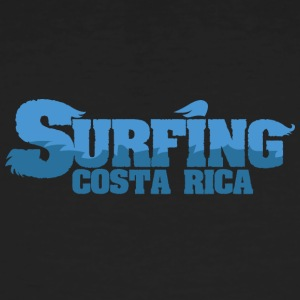 COSTA RICA Surfing Country Water - Männer Bio-T-Shirt