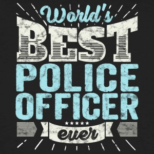 flic: Officier de police du monde Best Ever - T-shirt bio Homme