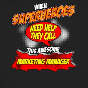 Superhero gift grappig Beroep Marketing Manager - Mannen Bio-T-shirt