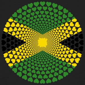 Jamaica Jamaica Love HEART Mandala - Men's Organic T-shirt
