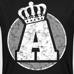 Stylish letter A with crown - Men's Organic T-shirt