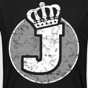 Stylish letter J with crown - Men's Organic T-shirt