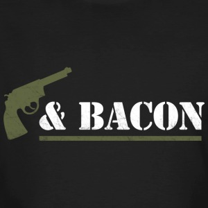 Guns & Bacon - Mannen Bio-T-shirt