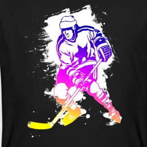 hockey rainbow spatter hockey player tor cool - Men's Organic T-shirt