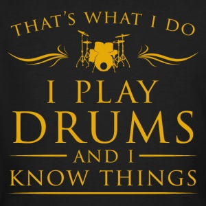I play drums cool sayings - Men's Organic T-shirt