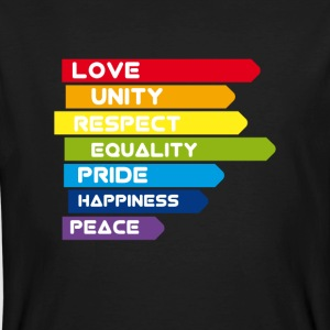 gay Love Unity Respekt Pride Peace happiness csd l - Männer Bio-T-Shirt