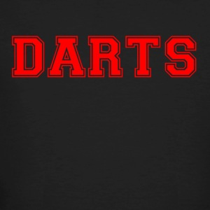 DARTS - lettering in red - Men's Organic T-shirt