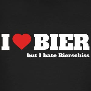 I love Bier, but I hate Bierschiss - Männer Bio-T-Shirt