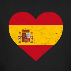 Spania Flag Shirt Heart - Spanish skjorte - Økologisk T-skjorte for menn