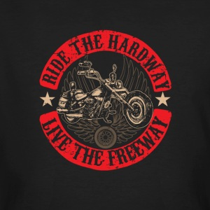 Ride the Hardway Live the Freeway - Men's Organic T-shirt