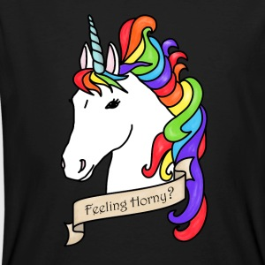 Unicorn - Feeling Horny? - Men's Organic T-shirt