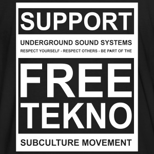 014 support free tekno - Men's Organic T-shirt
