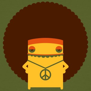 A Hippie With An Afro - Men's Organic T-shirt