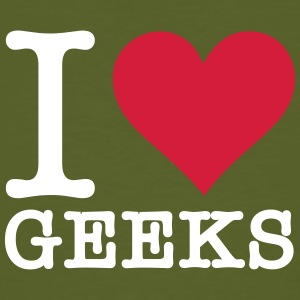I Love Geeks - Men's Organic T-shirt