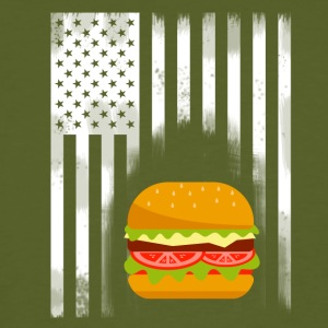 fast food americano hamburger hamburger Flag USA esse - T-shirt ecologica da uomo