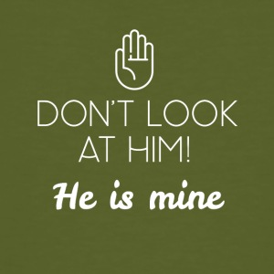 Don't look at him - Männer Bio-T-Shirt
