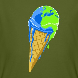 planete_qui_se warms. - Men's Organic T-shirt
