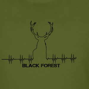 Black Forest Heartbeat black - Men's Organic T-shirt