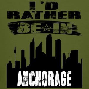 Geschenk Id rather be in Anchorage - Männer Bio-T-Shirt