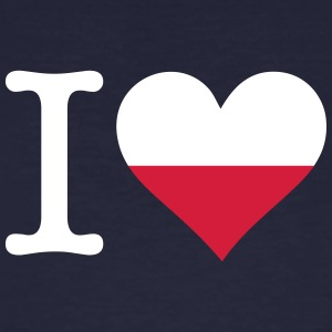 I Love Poland - Men's Organic T-shirt