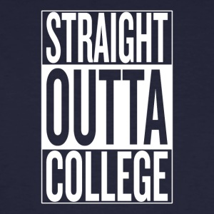 straight outta college original - Männer Bio-T-Shirt