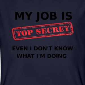Mijn taak is - Top Secret - Mannen Bio-T-shirt