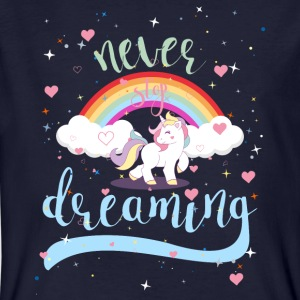 NEVER STOP DREAMING - UNICORN - Männer Bio-T-Shirt