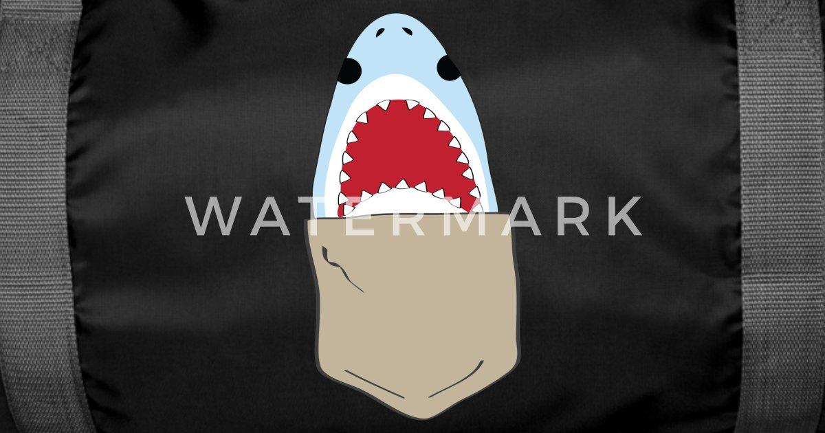 c69ee289b Funny shark in breast pocket Duffle Bag | Spreadshirt