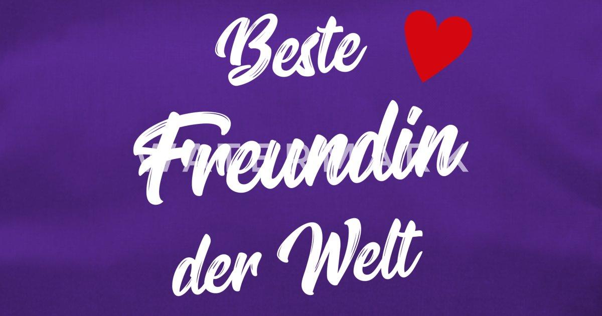 Freundin Geschenk Beste Freundin Valentinstag Sporttasche Spreadshirt