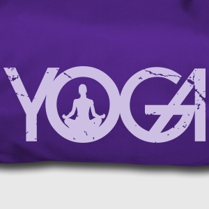Yoga writing with woman in grunge style - Duffel Bag