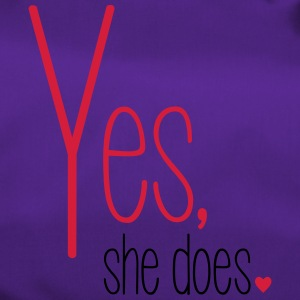 Yes she does - Sporttasche
