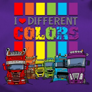 I love 6 different colors trucks - Duffel Bag