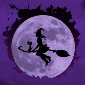 "Witch with sweet cat ""CatRina"" on broom with moon - Duffel Bag"