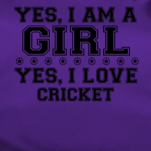 yes gift on a girl love bday gift CRICKET - Duffel Bag