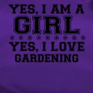yes gift on a girl love bday gift GARDENING - Duffel Bag