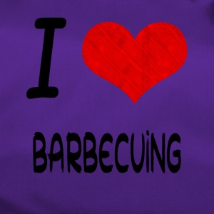 I Love Hobby Present bday BARBECUING - Sporttasche