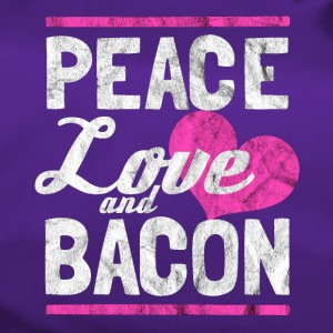 Peace, Love og Bacon - Gift - Sportsbag