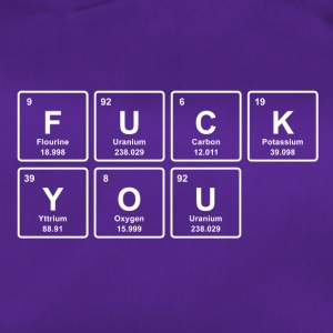 FUCK YOU - grappige chemie shirtgift - Sporttas